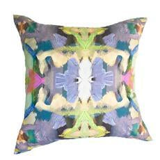 Summer Garden Purple Faux Hide Pillow