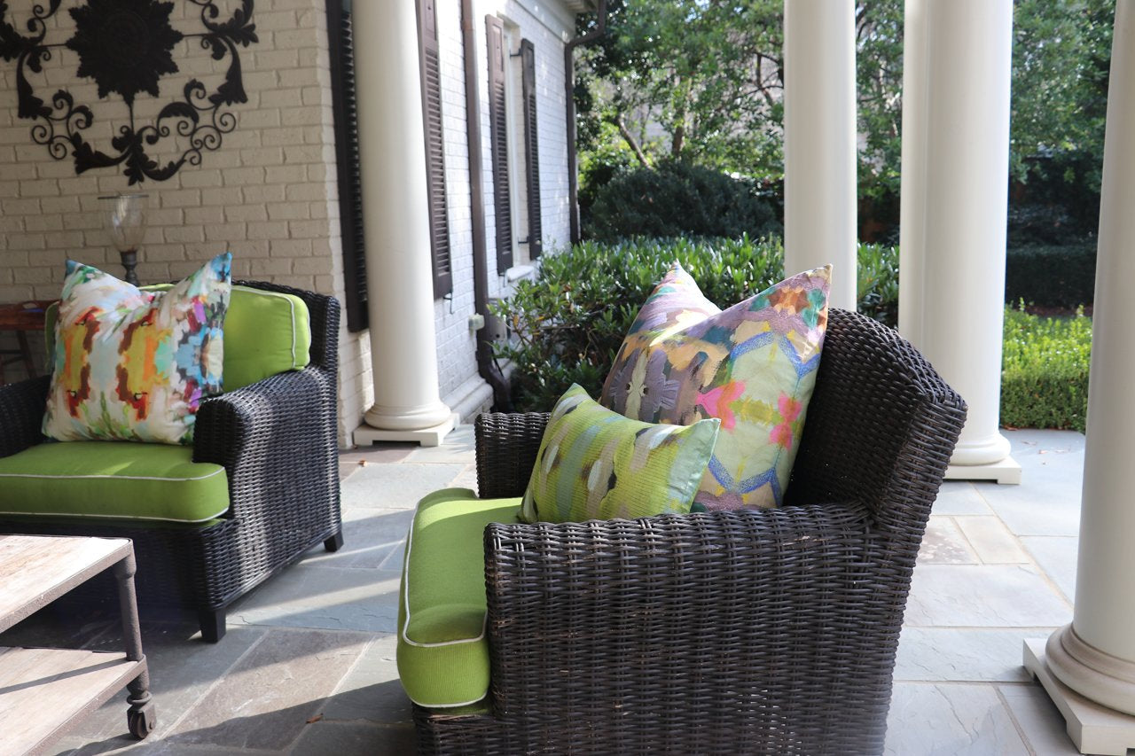 Outdoor Pillows by Laura Parks