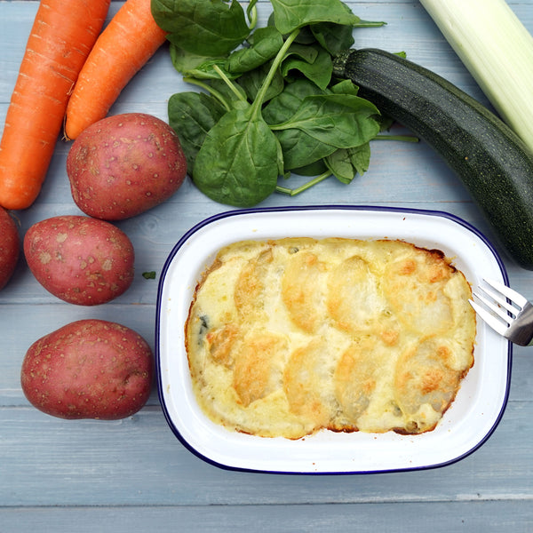 Fish pie with 6 veggies