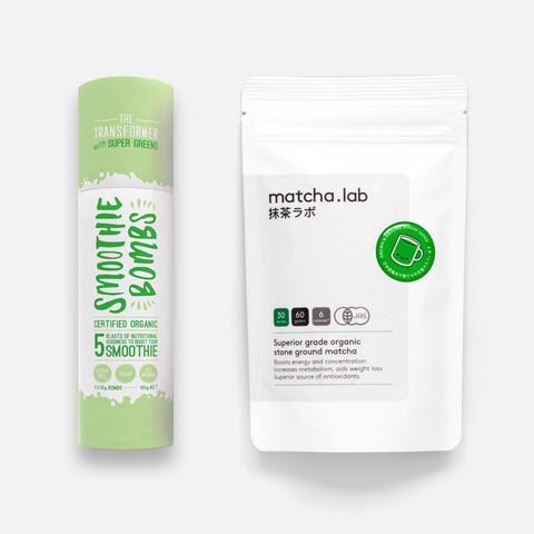 Superior grade matcha.lab x Smoothie Bombs Transformer