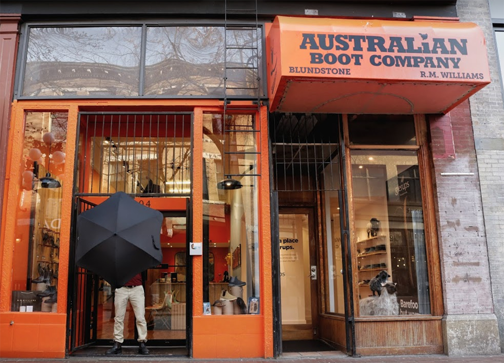 Australian Boot Gastown Store Downtown Vancouver