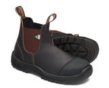 Blundstone 167 Work & Safety Boot Rubber Toe Cap Stout Brown