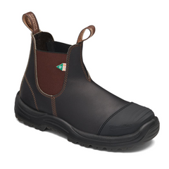 Blundstone Blundstone 167 Work & Safety Boot Rubber Toe Cap Stout Brown
