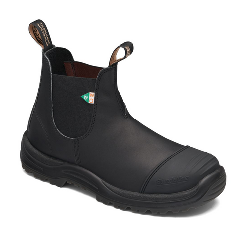 Blundstone 168 Work & Safety Boot Rubber Toe Cap Black