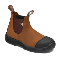Blundstone Blundstone 169 Work & Safety Boot Rubber Toe Cap Crazy Horse Brown