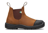 Blundstone 169 Work & Safety Boot Rubber Toe Cap Crazy Horse Brown