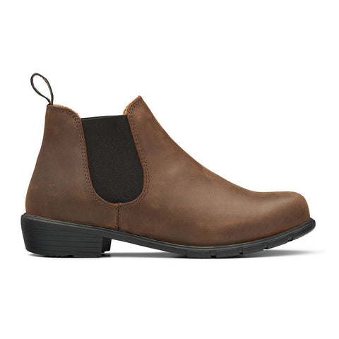 Women's Blundstone Boot with a Low heel in Antique Brown