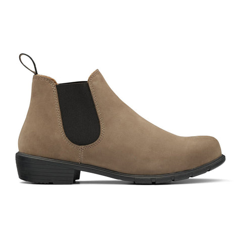 Women's Blundstone Boot with a Low heel in Stone