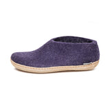 Shoe with Leather Sole in Purple
