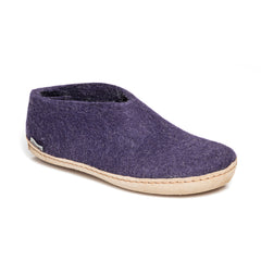 Glerups Shoe with Leather Sole in Purple