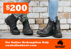 Gift Cards Australian Boot Company $200 Gift Card