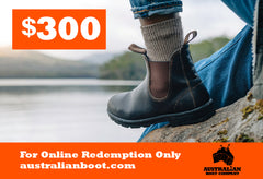Gift Cards Australian Boot Company $300 Gift Card
