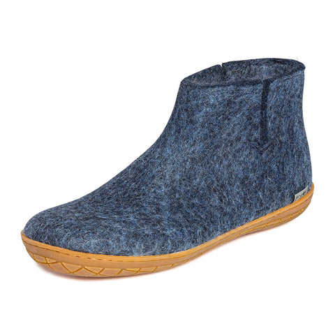 Low Boot Rubber Denim