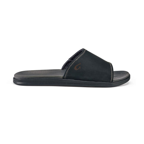 OluKai Men's Alania Slide Black