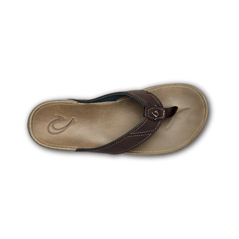 OluKai Men's Nui Dark Wood/Clay