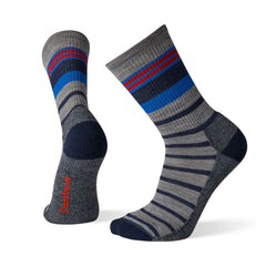 Accessories Smartwool Unisex Hike Light Stripe Crew in Light Grey