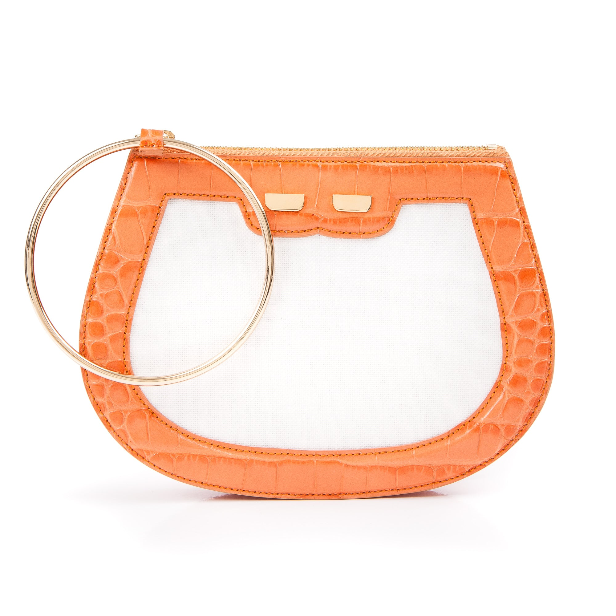 Ellie Bangle in Canvas & Orange Gator
