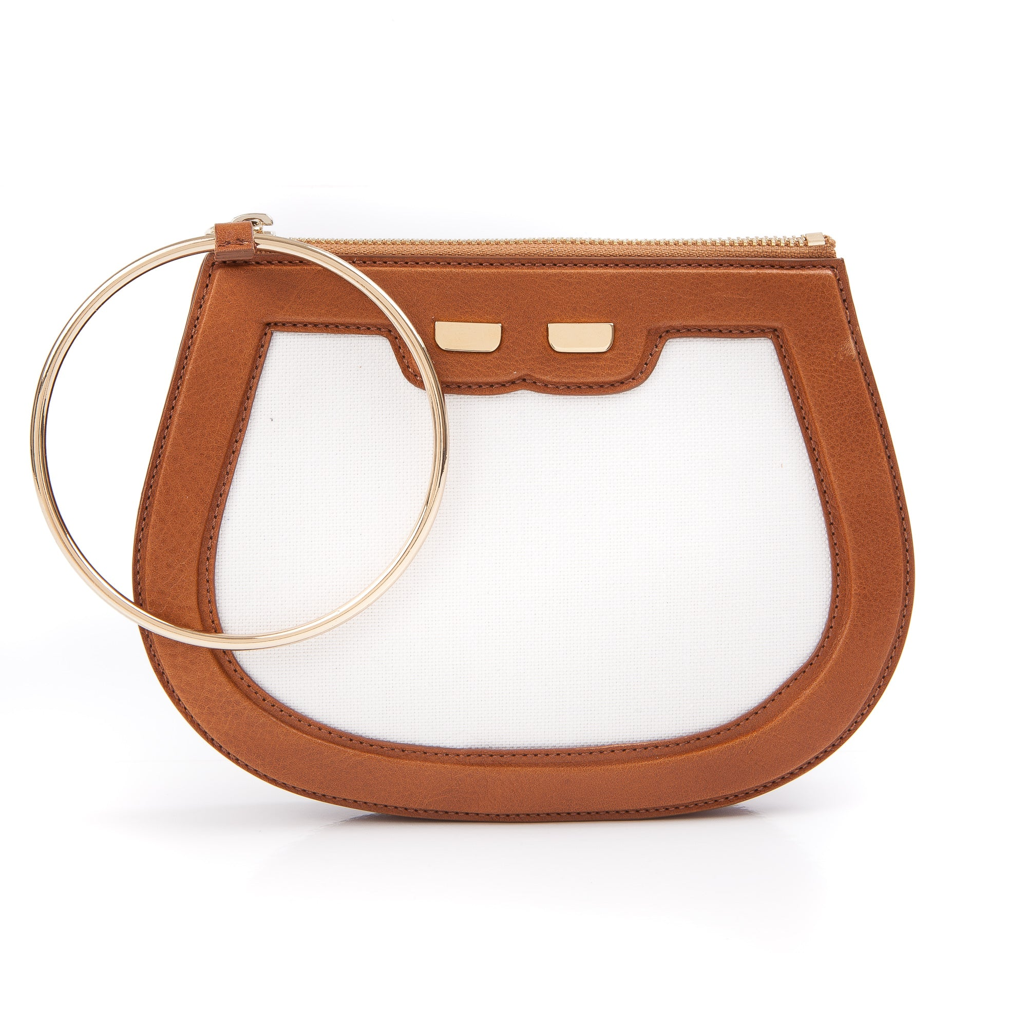 Ellie Bangle in Canvas & Buffalo
