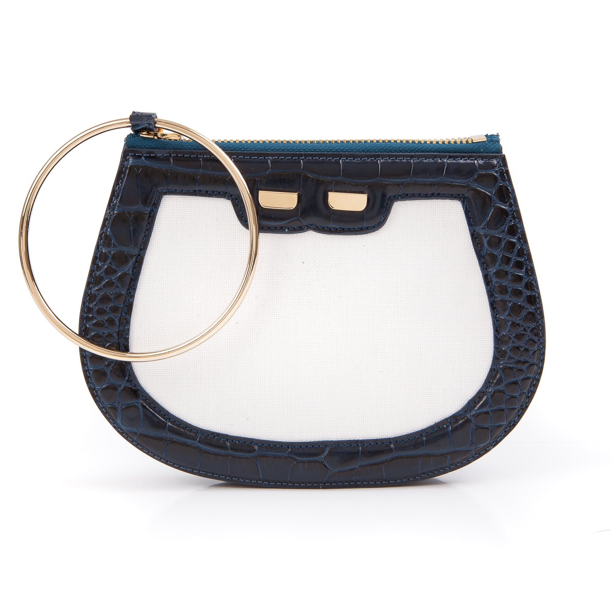 Ellie Bangle in Canvas & Navy Gator