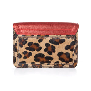 Samuel Bag in Metallic Red and Leopard Calf Hair