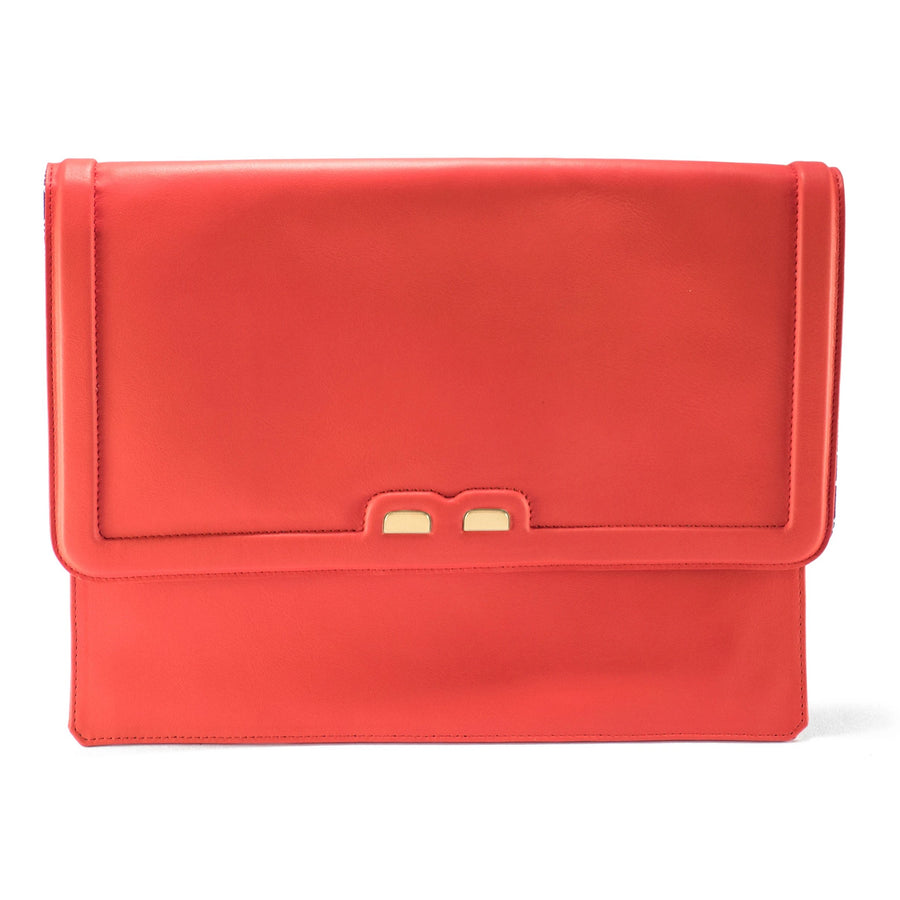 Coral Red Caffery Clutch - BENE Handbags