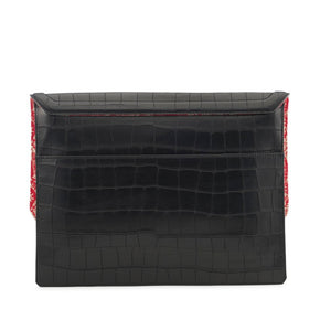 Caffery in Black Alligator Stamp - BENE Handbags