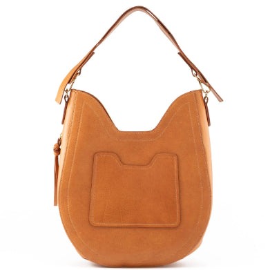 Camel Brown Henry James Hobo - BENE Handbags