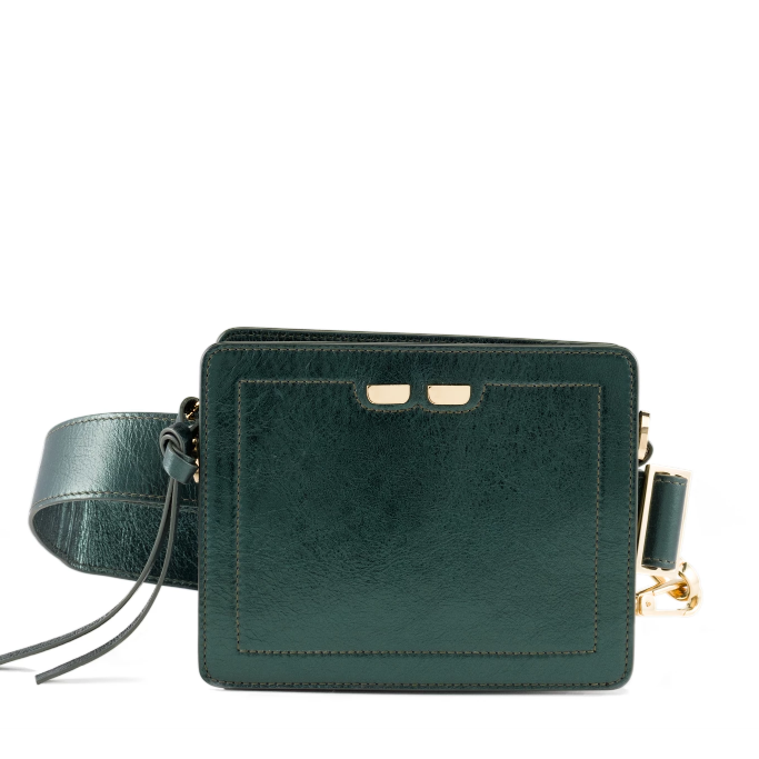 Fairfax in Metallic Green - BENE Handbags