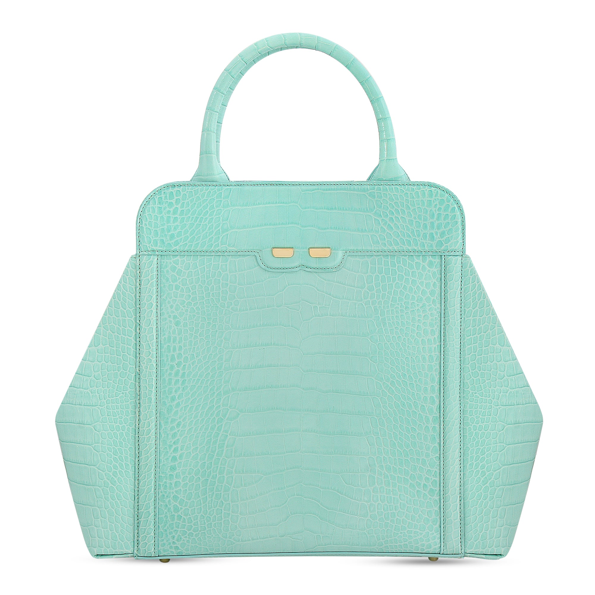 Nott in Mint Alligator Stamp - BENE Handbags