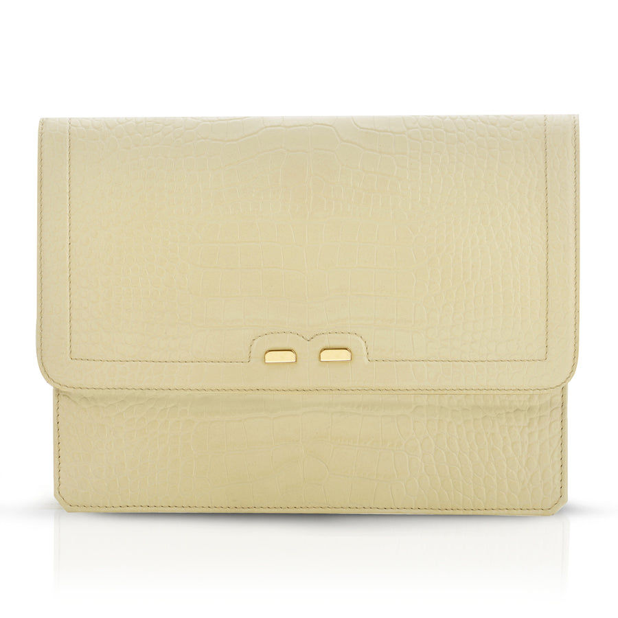 Caffery in Latte Alligator - BENE Handbags
