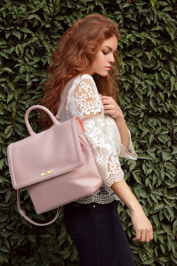 Light Lavender Blakemore Bookbag - BENE Handbags