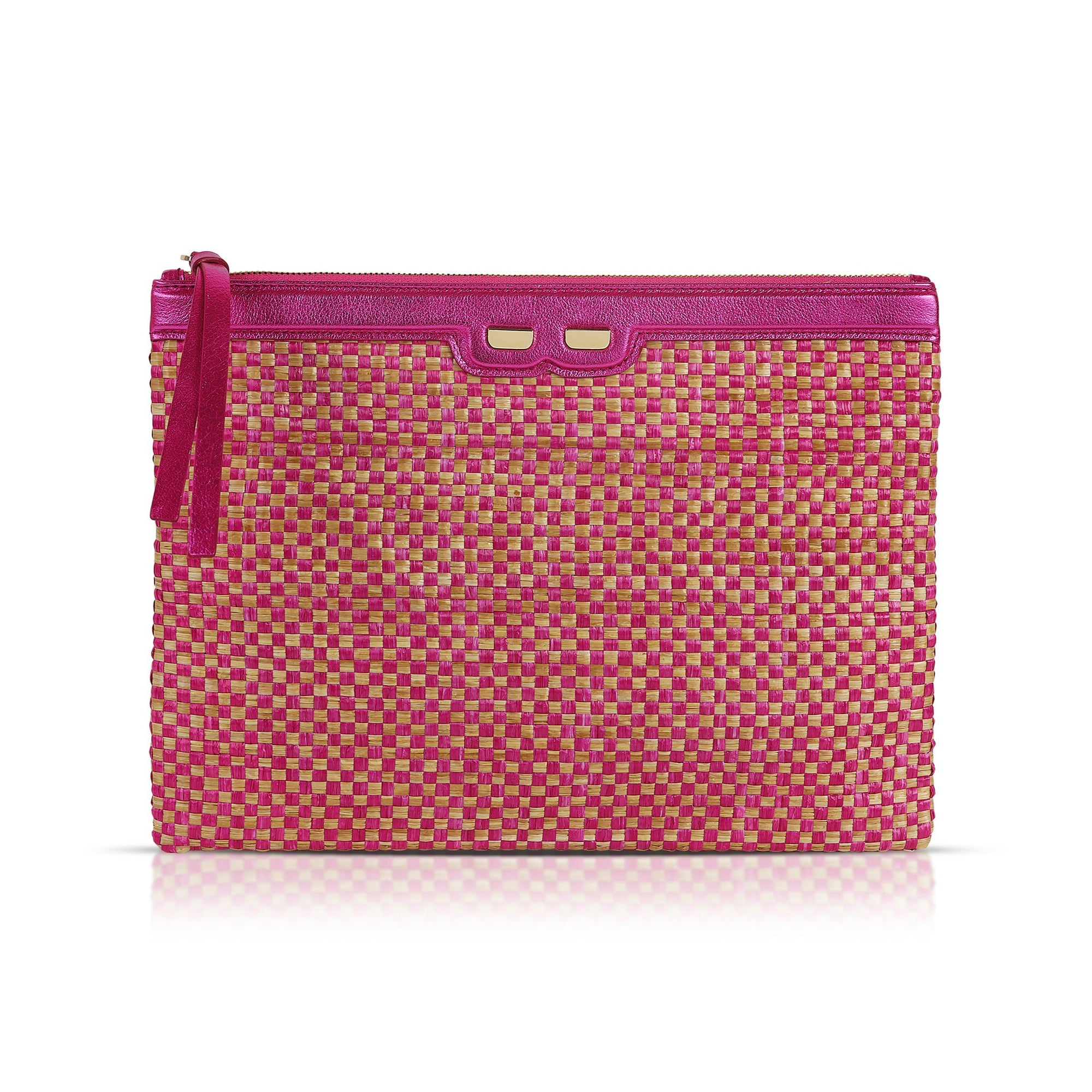 Penny in Metallic Pink & Raffia