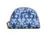 Blue Artistic Pattern Nylon Makeup Bag