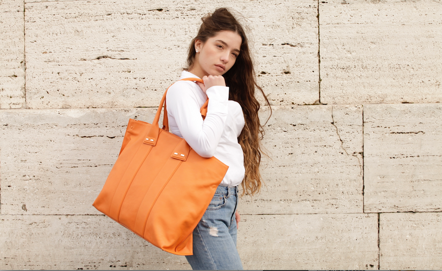Orange Stafford Bag - BENE Handbags