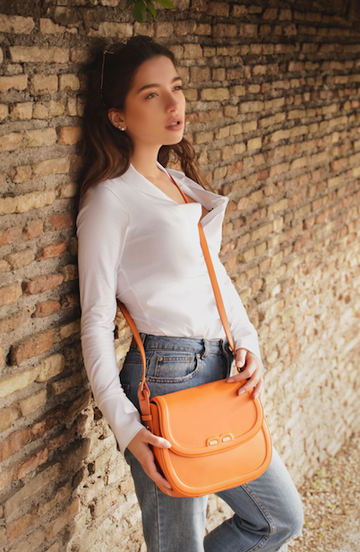 Orange Holmes Handbag - BENE Handbags