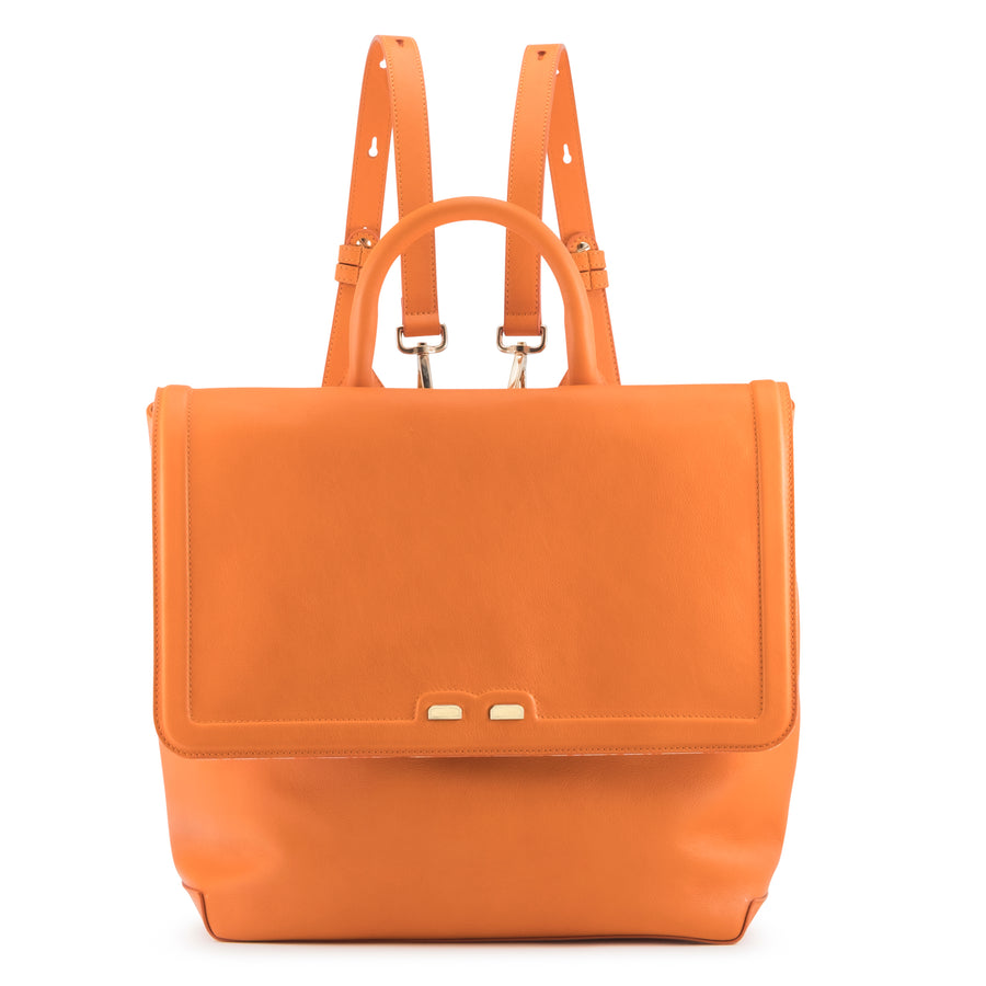 FEATURED IN US WEEKLY *  Orange Blakemore Bookbag - BENE Handbags