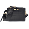 Fairfax in Black Alligator Stamp - BENE Handbags