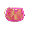 Ellie Bangle in Metallic Pink with Raffia - BENE Handbags