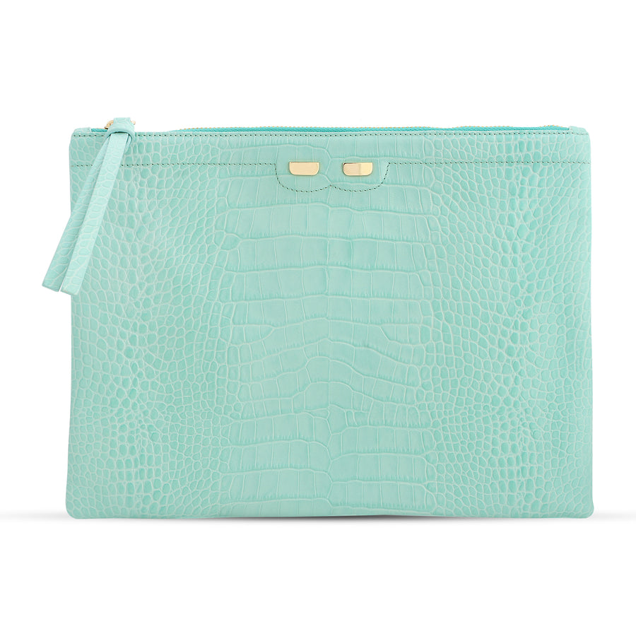 Penny in Mint Green Alligator Stamp