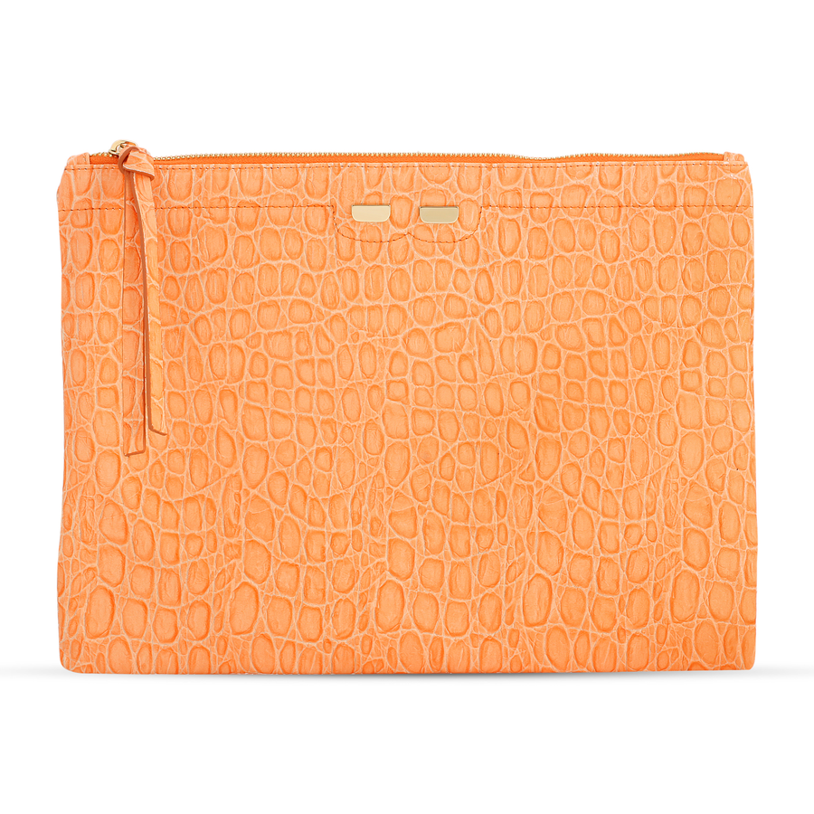 Penny in Orange Gator Stamp - BENE Handbags
