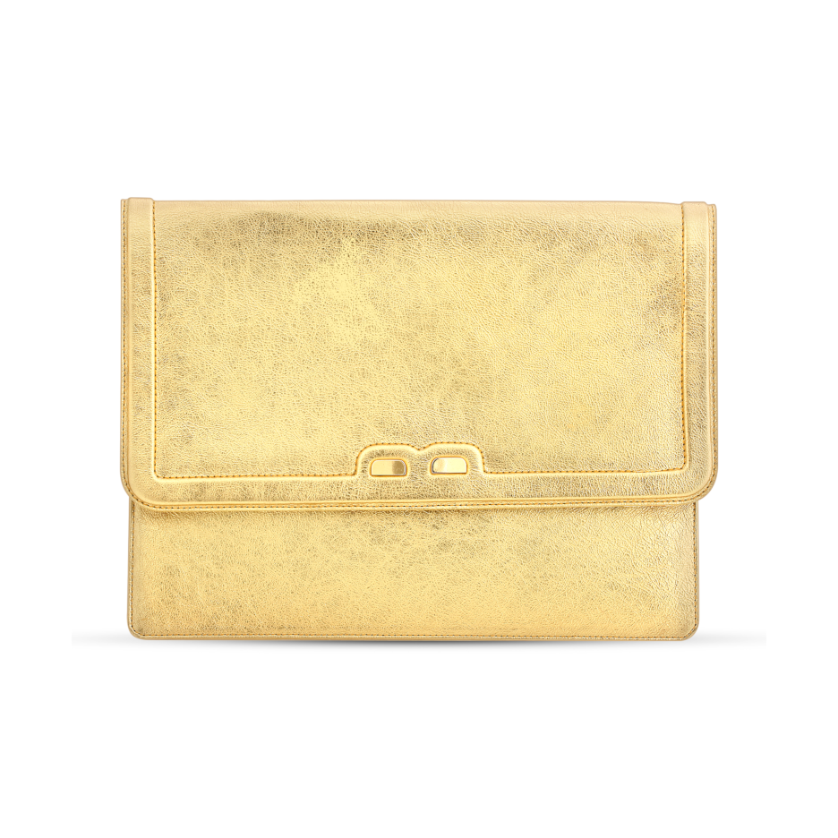 Caffery in Metallic Gold - BENE Handbags