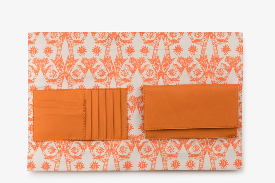 Orange Ryland Wallet - BENE Handbags