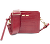 Fairfax in Red Alligator Stamp - BENE Handbags