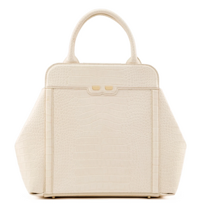 Nott in Latte Alligator Stamp - BENE Handbags