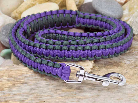 Hunter Green and Purple Dog Lead