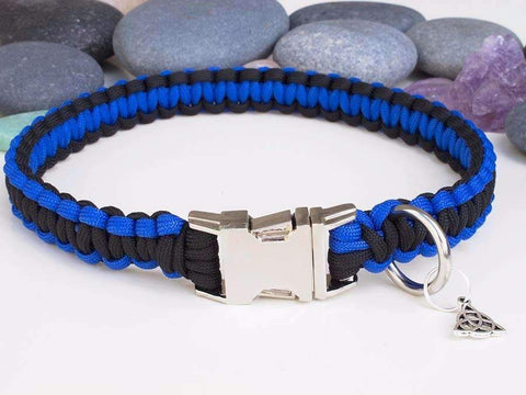 Black and Blue - Cobra Dog Collar