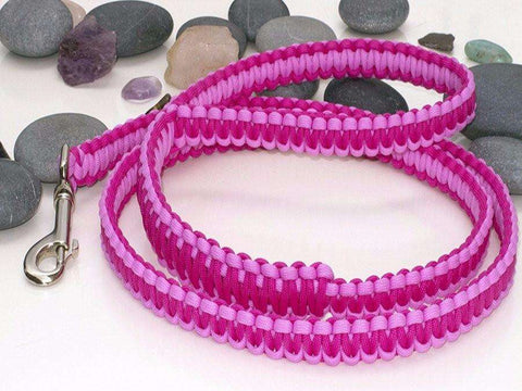 Two Tone Pink Paracord Dog Lead | Leash