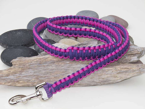 Purple & Pink Paracord Dog Lead