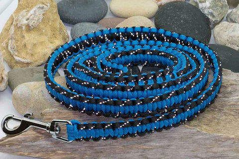 Reflective Black and Blue Dog Lead