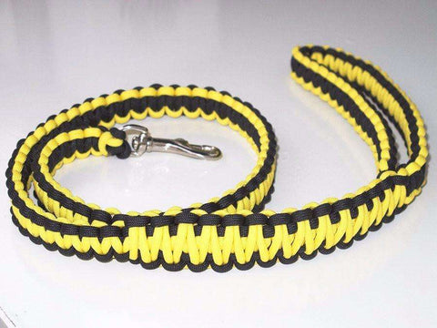 Paracord Dog Lead - Yellow & Black
